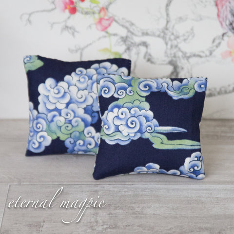 Lavender bags: Swirling Clouds