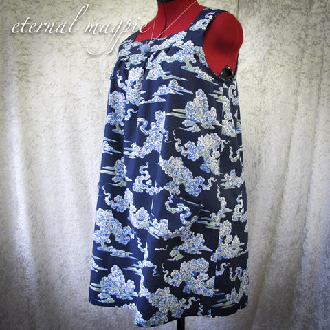 SOLD: Buddha's Cloud print tunic dress, size 12-14