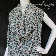 "Made to order: women's organic cotton ""Speakeasy"" print dress"