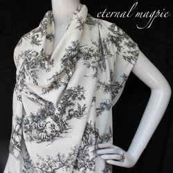 Made to order: women's Toile du Jouy print dress