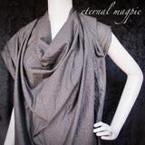 DISCONTINUED FABRIC Made to order: women's black & metallic silver dress
