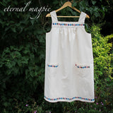 Made to order: children's organic cotton Sailboats border print dress