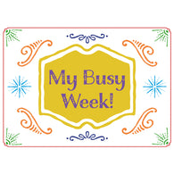 LAST DAY to pre-order: My Busy Week! A4 planner for pre-school children