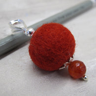 Cardinal red & indian agate diffuser pendant