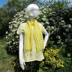 Weld hand dyed organic cotton scarf