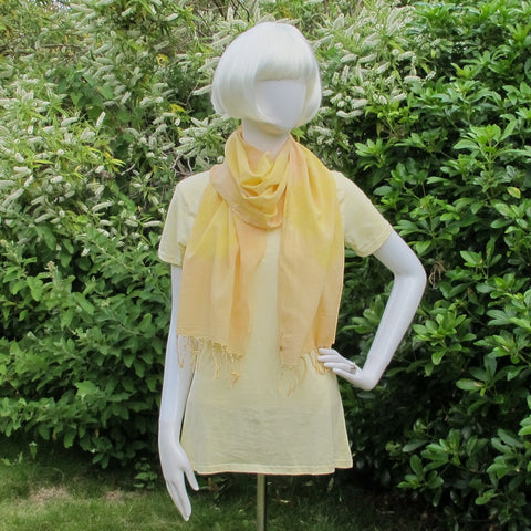 Weld & Madder hand dyed organic cotton scarf