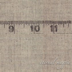 Made to order: women's organic cotton Tape Measure border print dress