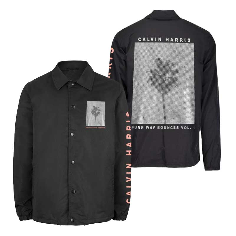 Palm Tree Black Coaches Jacket Upsell Collection Calvin Harris