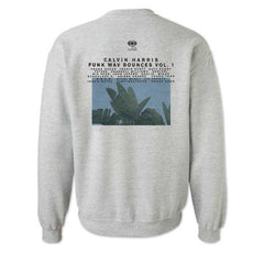 CALVIN HARRIS 'GOD'S EYES STUDIOS' HEATHER GREY CREWNECK