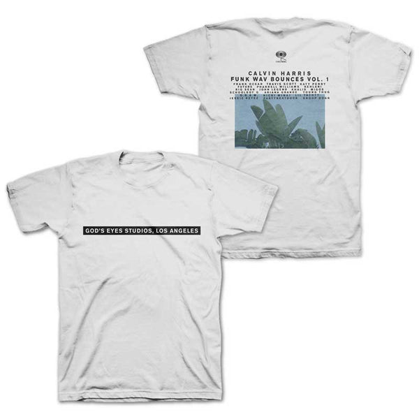 CALVIN HARRIS 'GOD'S EYES STUDIOS' WHITE TEE