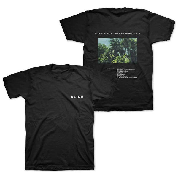 CALVIN HARRIS 'SLIDE' BLACK TEE