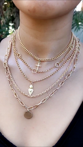 Gold n Charmed Layered Necklace