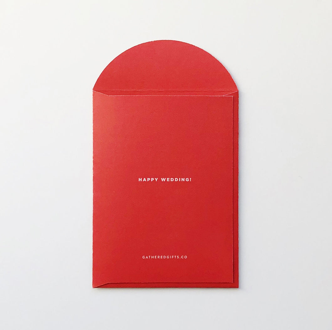 double happiness red envelope gathered gifts