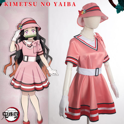 Demon Slayer Kamado Nezuko Cosplay Party Dress Casual Wear
