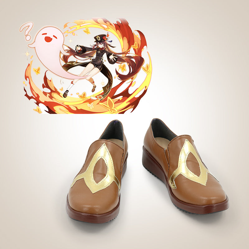 Game Genshin Impact Hutao Cosplay Shoes  Anime Halloween Party