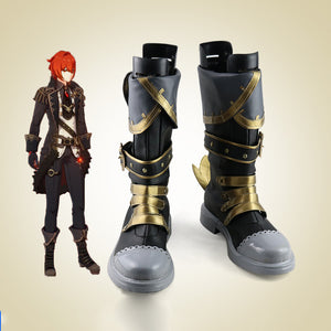 Genshin Impact Diluc Cosplay Boots Shoes