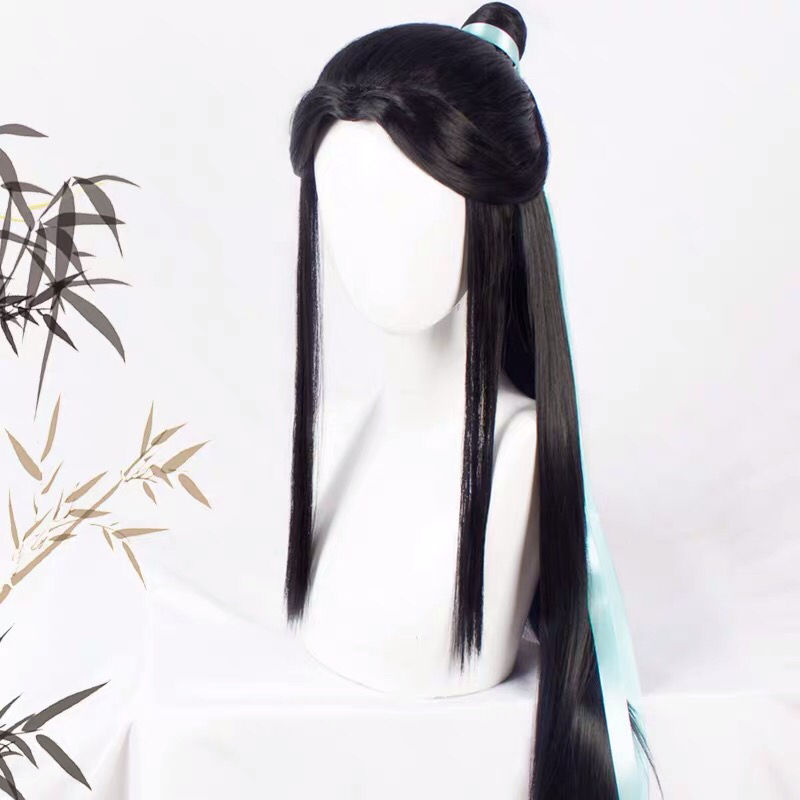 Heaven Official's Blessing Cosplay Wig Xie Lian Long Black Hair Tian Guan Ci Fu Cosplay Ancientry Universal Wig