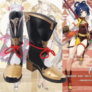 Genshin Impact Xiang Ling Cosplay Shoes Game Boots Cosplay Props