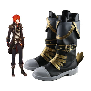 Genshin Impact Diluc Cosplay Boots Shoes Custom Made Adult Mens