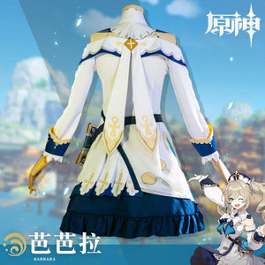 Genshin Impact Barbara Cosplay Costume Barbara Outfit Dress