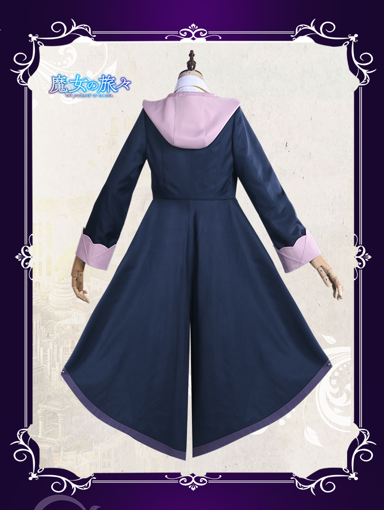 The Journey of Elaina Cosplay Costume Majo no Tabitabi Outfit Purple Halloween Party