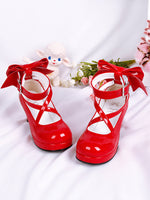 Load image into Gallery viewer, Puella Magi Madoka Magica Cosplay Shoes Japanese Style Anime Lolita Shoes High Heels Bowknot Girls Princess