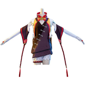 Genshin Impact Cosplay XINYAN Cosplay Costume Full Set With Bag