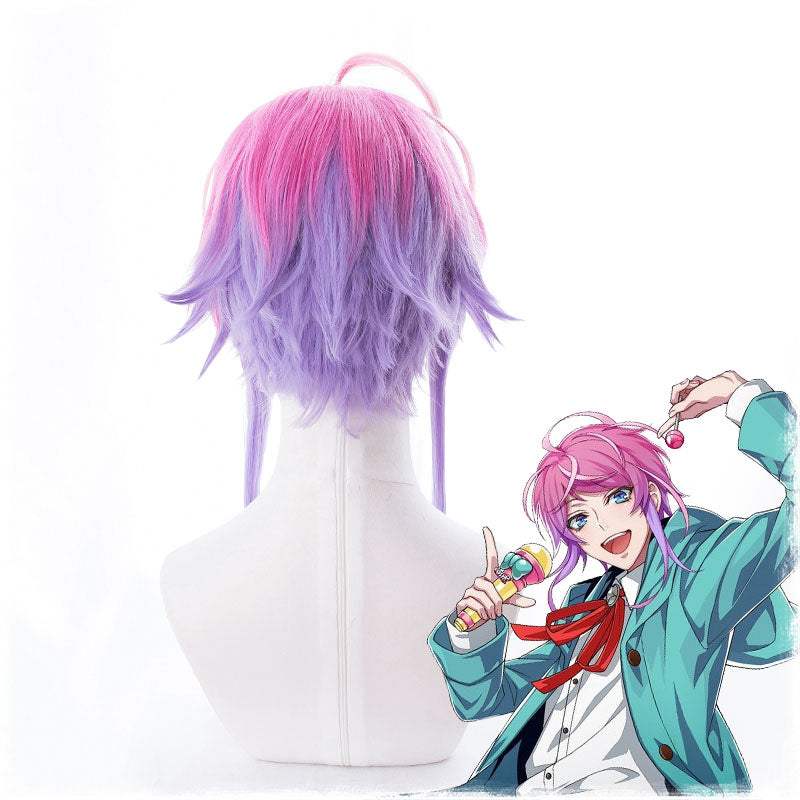 Division Rap Battle Hypnosis MIC Amemura Ramuda Short Wig Cosplay Costume Men Women Heat Resistant Synthetic Hair Wigs + Wig Cap