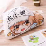 Load image into Gallery viewer, Cells at Work Hataraku Saibou Plush Pillow  Red White Blood Killer T Cell Platelet  Macrophage