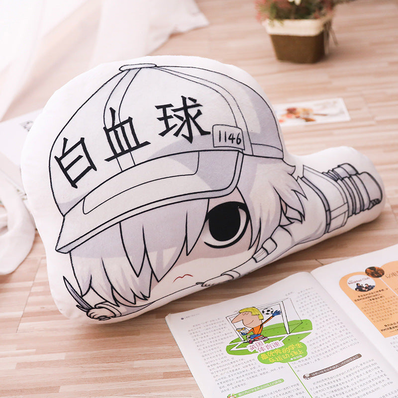 Cells at Work Hataraku Saibou Plush Pillow  Red White Blood Killer T Cell Platelet  Macrophage