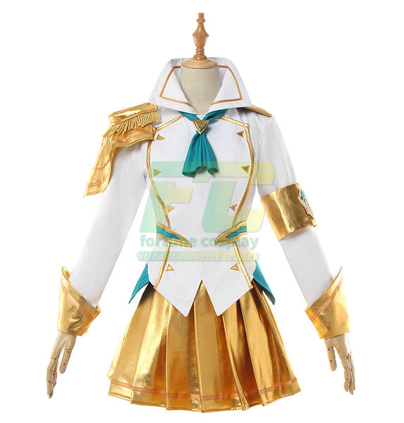 Battle Academia Lux Cosplay Costume LoL Lux  Prestige Edition