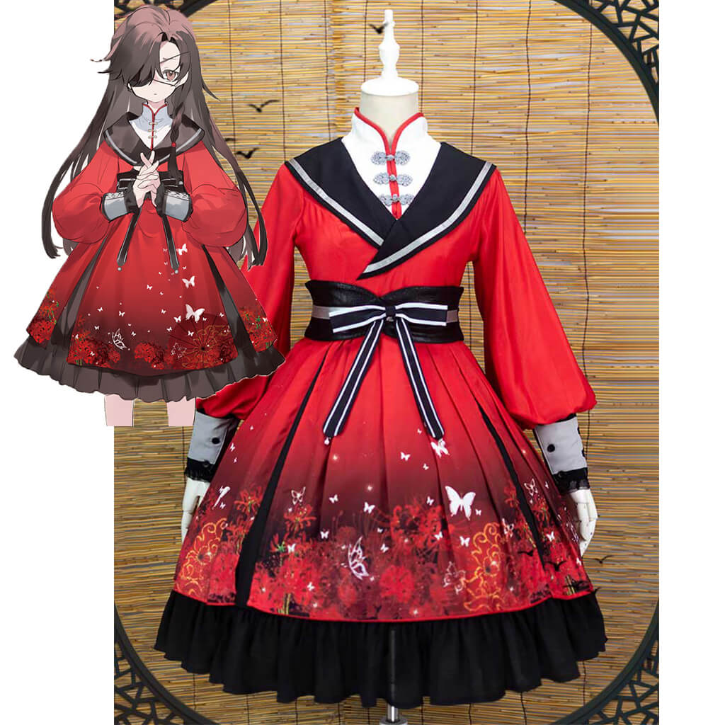 Heaven's Official Blessing Lolita Dress Hua Cheng Cosplay Costume Sex Transfer Outfit Tian Guan Ci Fu