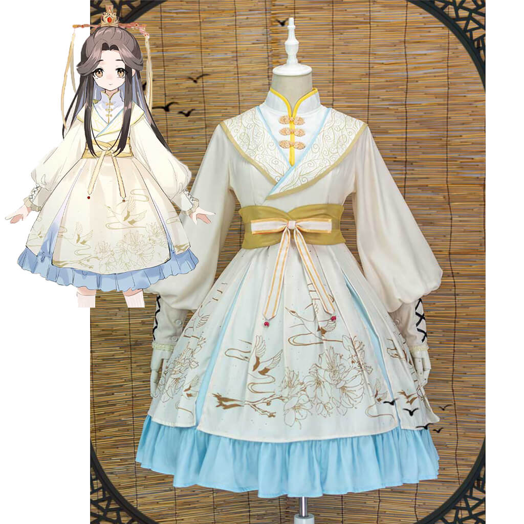 Heaven's Official Blessing Lolita Dress Xie Lian Cosplay Costume Sex Transfer Outfit Tian Guan Ci Fu