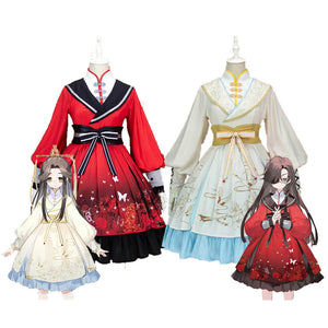 Heaven's Official Blessing Lolita Dress Hua Cheng Xie Lian Cosplay Costume Sex Transfer Outfit Tian Guan Ci Fu
