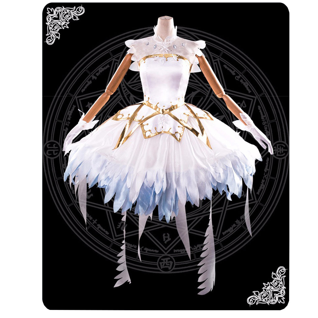 Cardcaptor Sakura Kinomoto Sakura Clear Card OP Dress War of Dream Full set Cosplay costumes