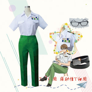 Cells at Work Hataraku Saibo Herupa T Saibo Cosplay Costume Japanese Anime Adult Uniform Suit Outfit Clothes