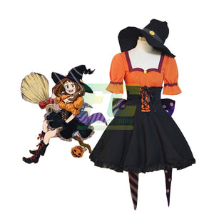 My Hero Academia Asui Tsuyu School Halloween Skin Cosplay Costume