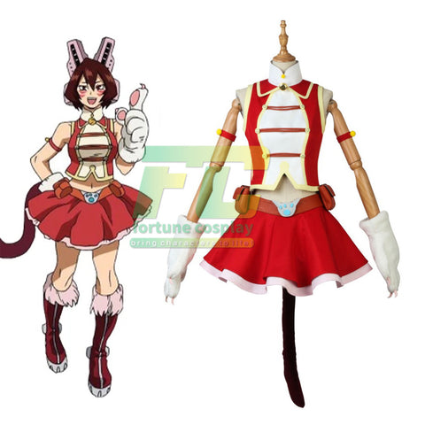 My Hero Academia Boku no Hero Academia Red PUSSY CAT Pussycat Cosplay Costume
