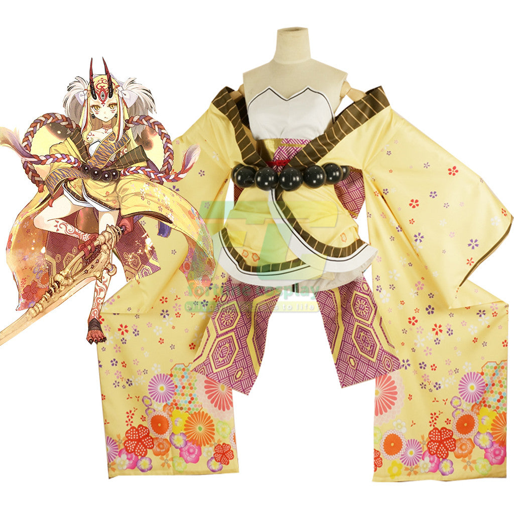Fate grand order Douji Ibaraki Doji Cosplay Costume