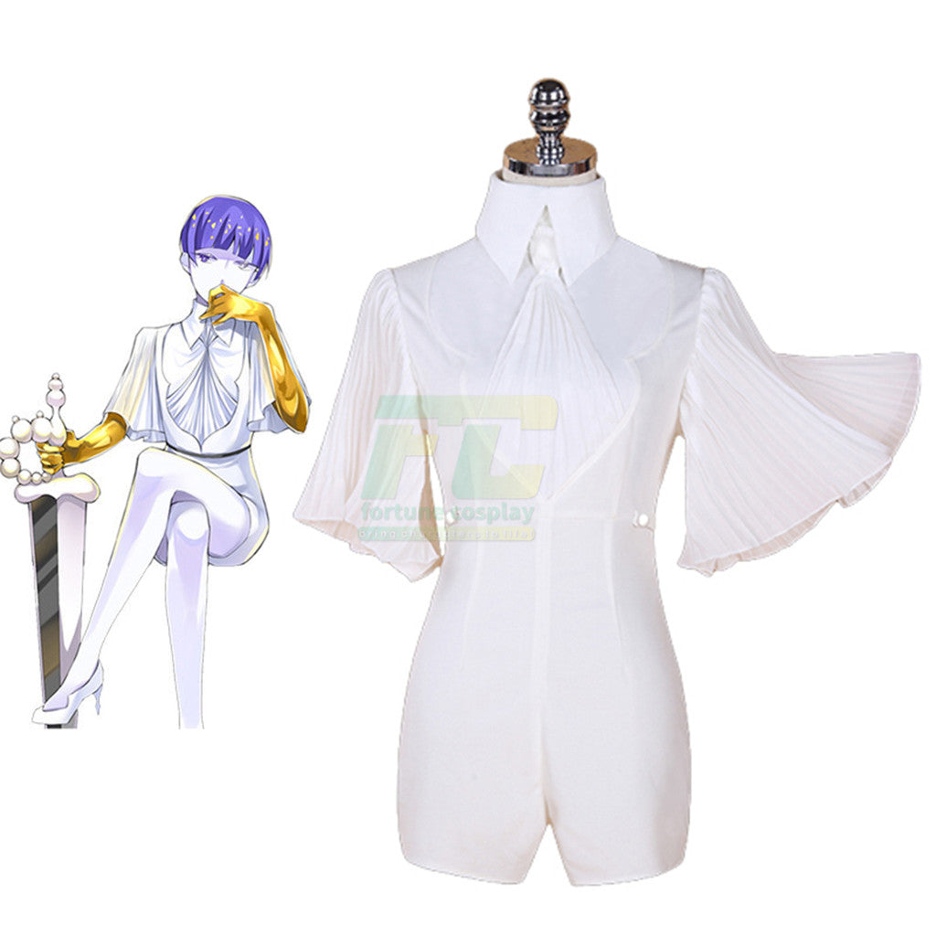 Land of the Lustrous Phosphophyllite Moon Cosplay Costume Jumpsuits Outfit