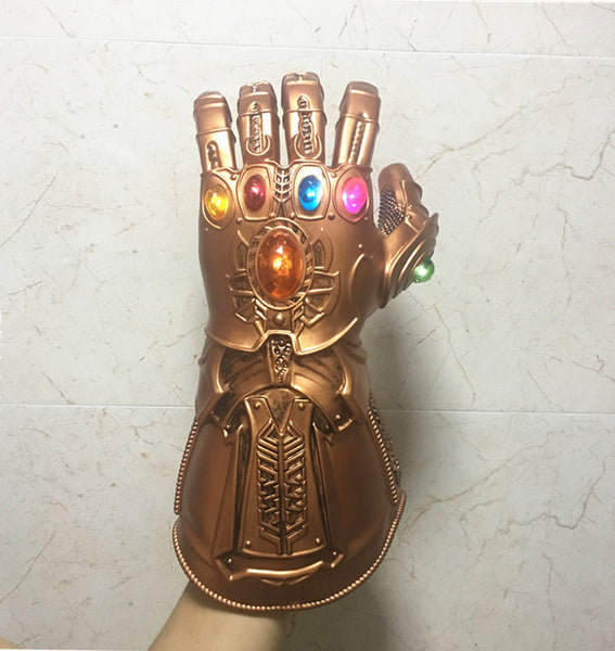 Thanos Infinity Gauntlet Avengers Infinity War LED Gloves Cosplay Superhero Props