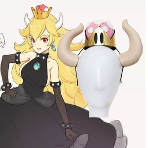 Bowser Womanize Crown Horns Bowsette Kuppa Hime Koopa Cosplay Costume Mario