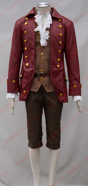 2017 Movie Beauty and the Beast Cosplay Gaston Costumes