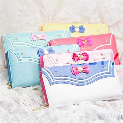 Fashion Vega Sailor Moon Ladies Long Zipper Female Bag Women Leather kawaii Wallet Purse