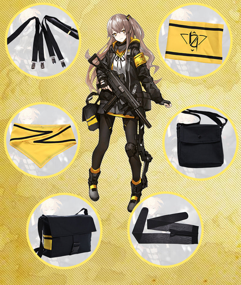 Game Girls Frontline Ump45 Cosplay Costume Battle Unifroms