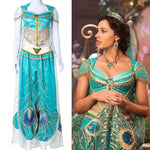 Load image into Gallery viewer, 2019 Movie Aladdin Jasmine Cosplay Costume Custom Made
