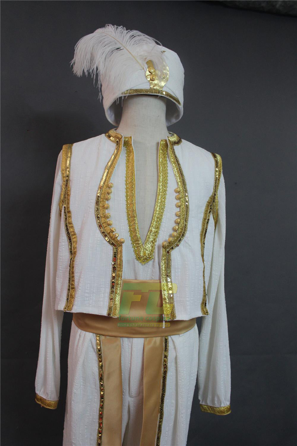 Free Shipping 2019 Movie Aladdin Lamp Prince Mena Massoud Cosplay Costume Custom Made