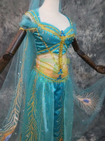 Load image into Gallery viewer, 2019 Movie Aladdin Jasmine Princess Cosplay Costume Custom Made Top Quality