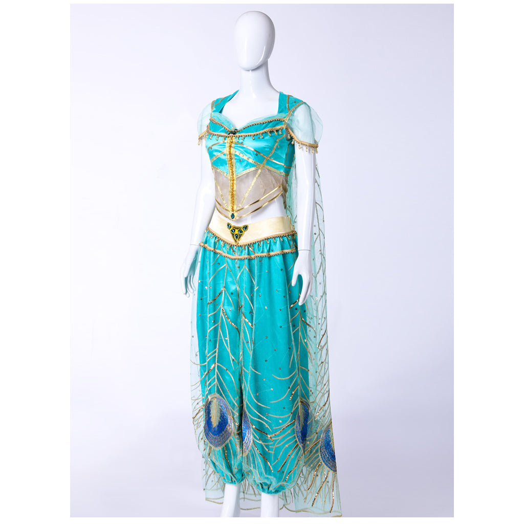 2019 Movie Aladdin Jasmine Cosplay Costume Custom Made