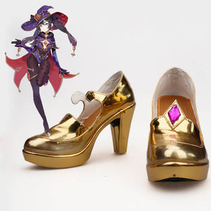 Genshin Impact Mona Cosplay Shoes Halloween Carnival Cosplay Accessories